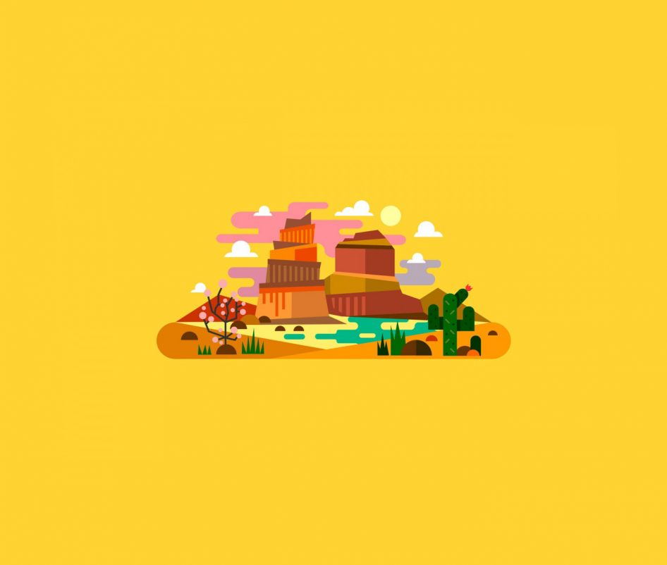 Country on the world illustration